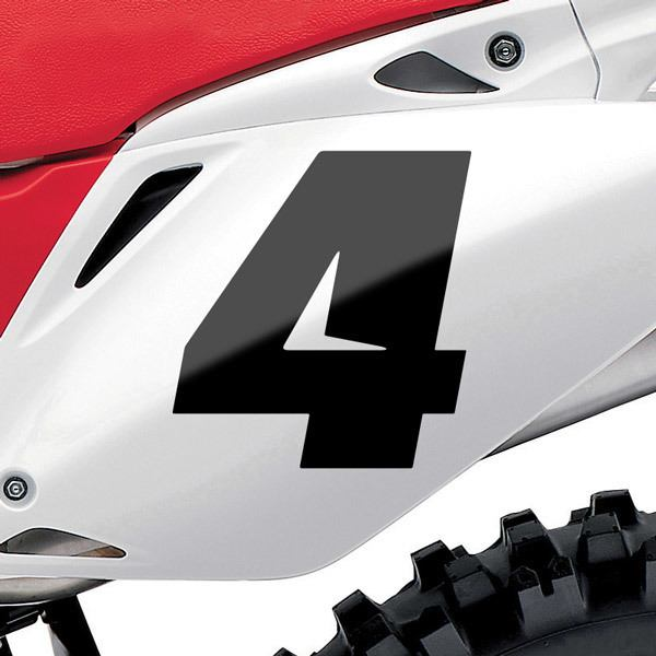 Autocollants: Nombre 4 Speed