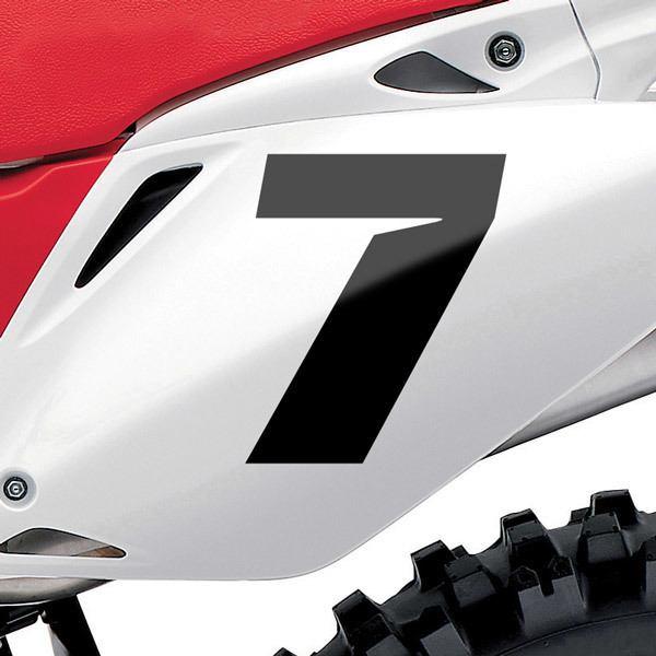 Autocollants: Nombre 7 Speed