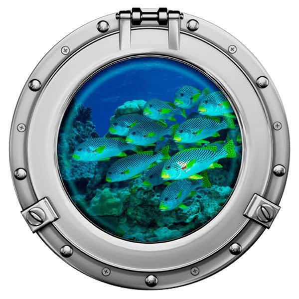 Stickers muraux: Banc de poisson 1