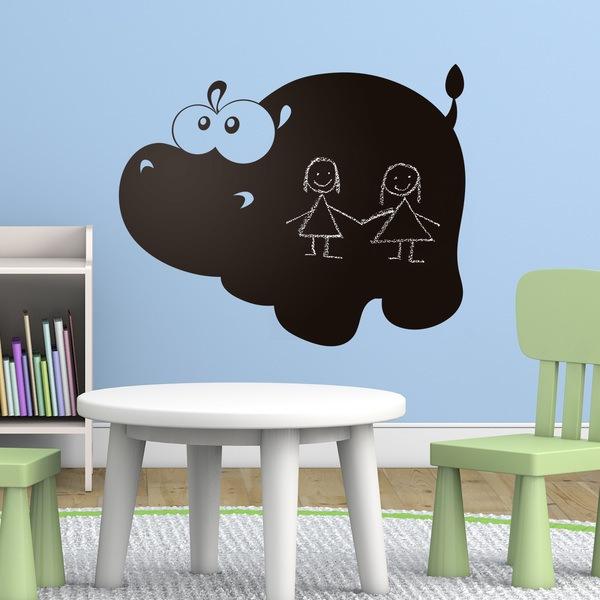 Stickers pour enfants: Hippopotame