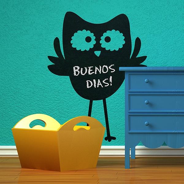 Stickers pour enfants: Chouette Slate