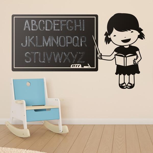 Stickers pour enfants: Pizarra professeur