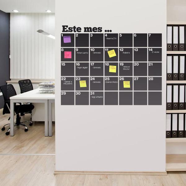 Stickers muraux: Calendrier Chalkboard organisateur