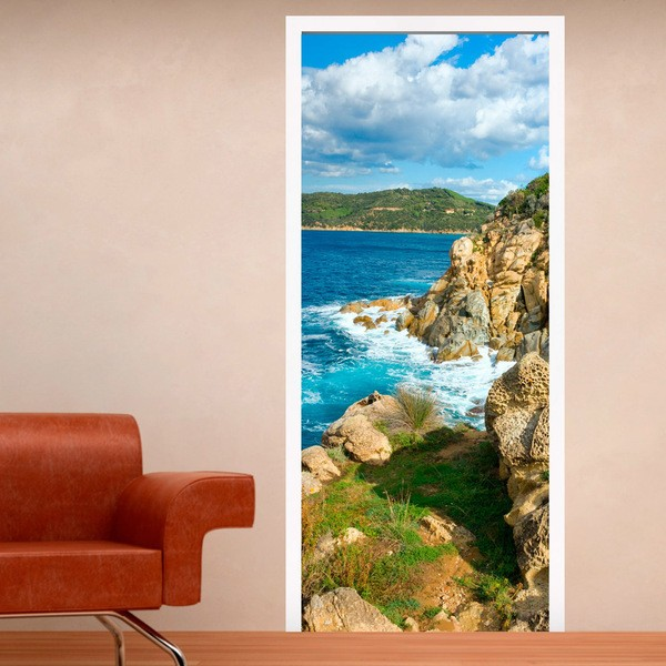 Stickers muraux: Porte cliff près de la mer