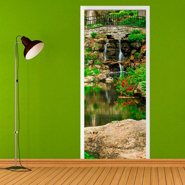 Stickers muraux: Porte pond and gardens