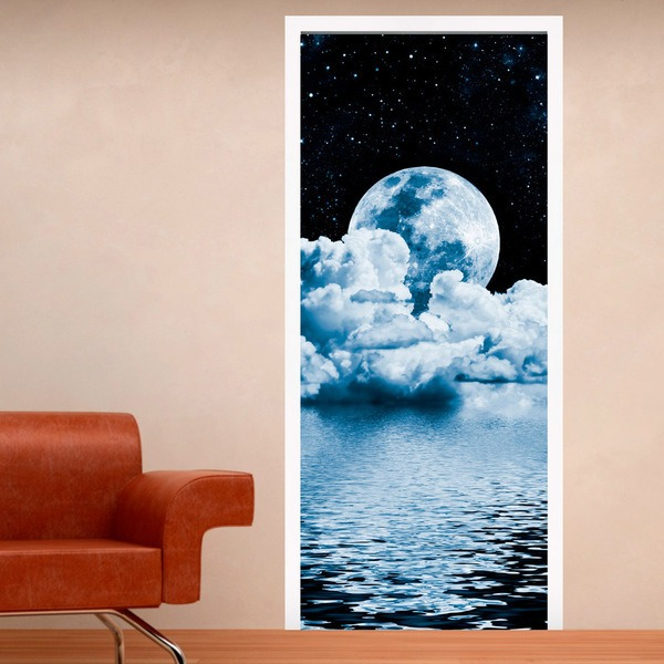 Stickers muraux: Porte lune sur la mer