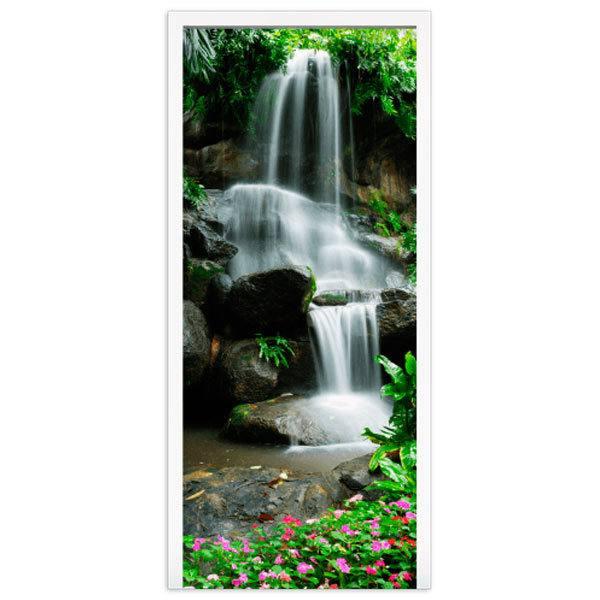 Stickers muraux: Porte Chute d eau et de pierres 2