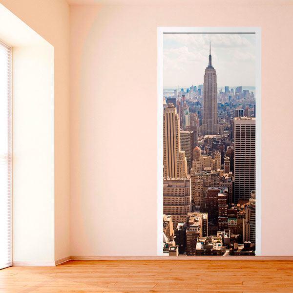 Stickers muraux: Porte vue sur l Empire State Building