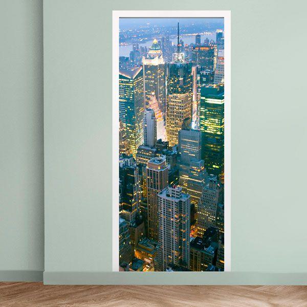 Stickers muraux: Porte gratte-ciel de New York