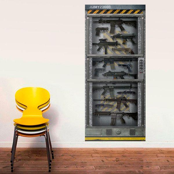 Stickers muraux: Sci Fi Porte Arsenal