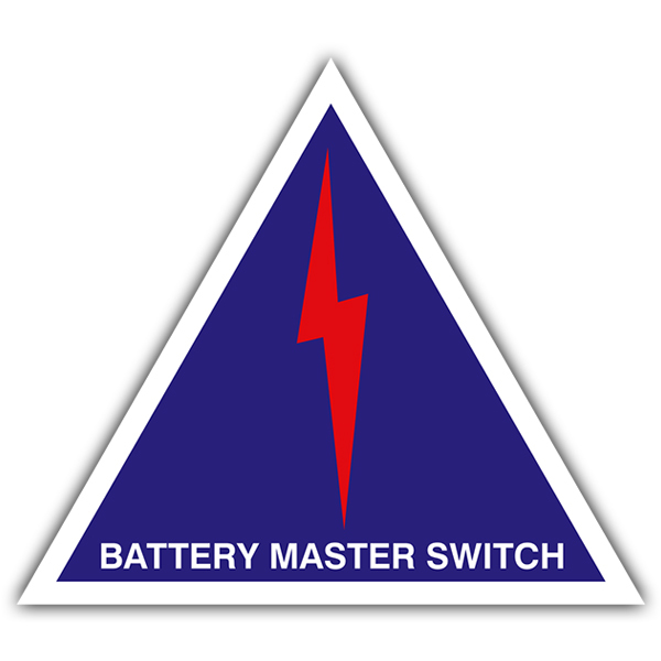 Autocollants: Battery master switch