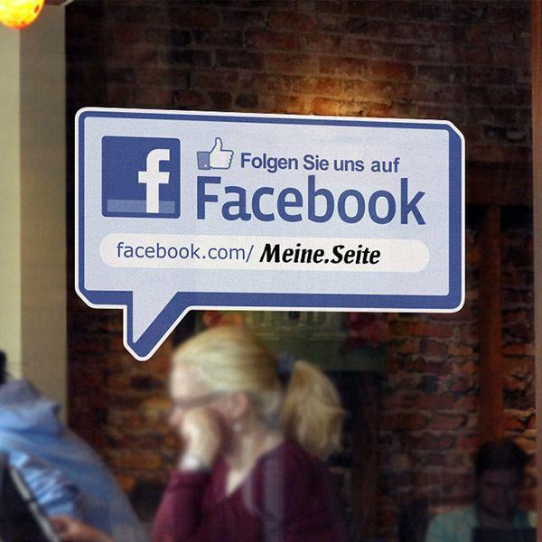 Stickers muraux: Folgen Sie uns auf Facebook