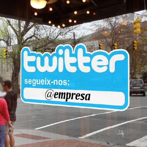 Stickers muraux: Segueix-nos a Twitter