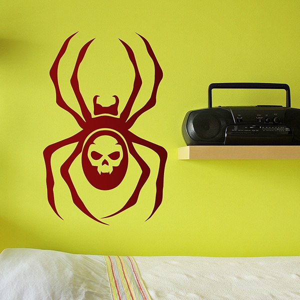 Stickers muraux: Spider Skull
