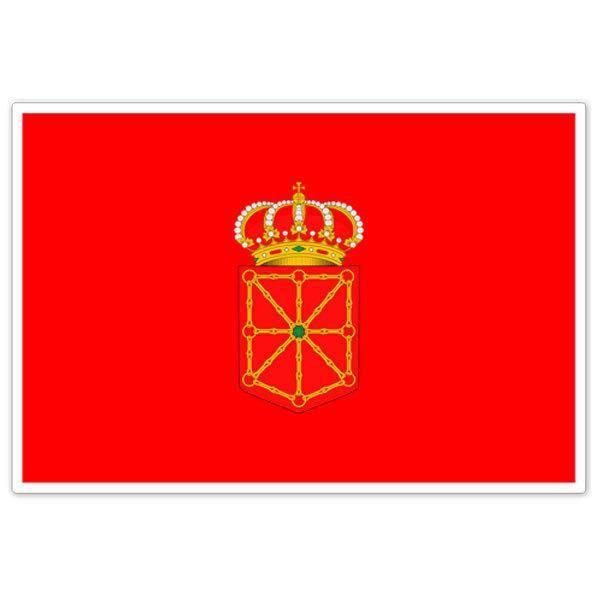 Autocollants: Drapeau Navarra