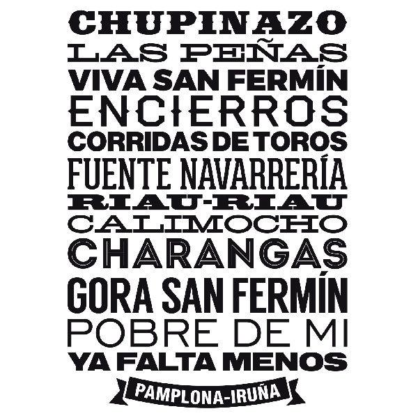 Stickers muraux: Pamplona-Iruña
