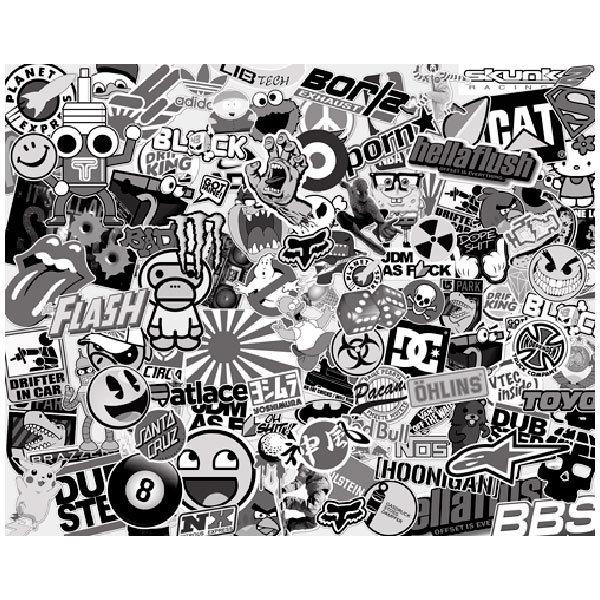 Autocollants: Stickerbomb noir et blanc