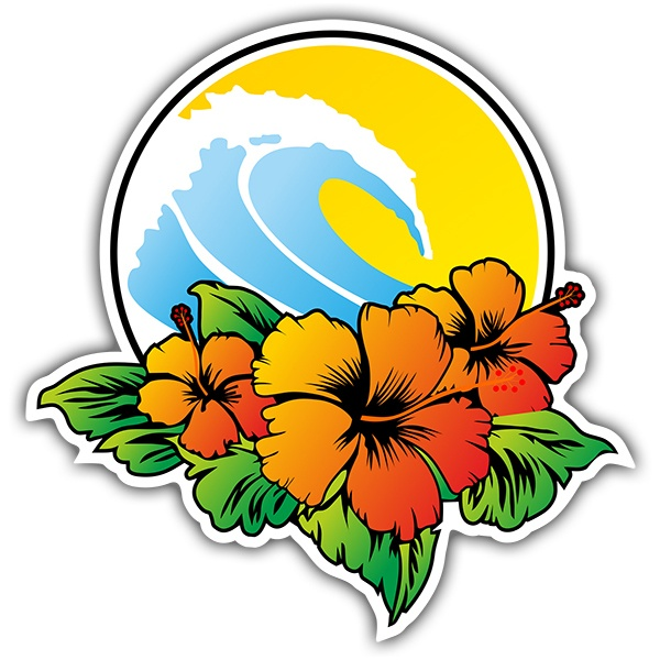 Stickers muraux: surf beach