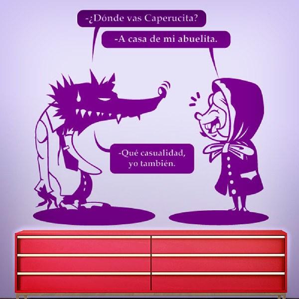 Stickers pour enfants: Le Chaperon Rouge et le loup