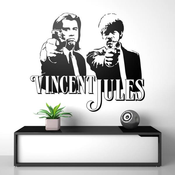 Stickers muraux: Vincent y Jules