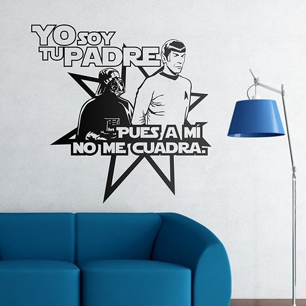 Stickers muraux: Spock wars