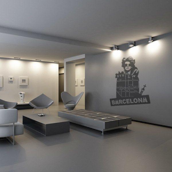 Stickers muraux: Barcelona