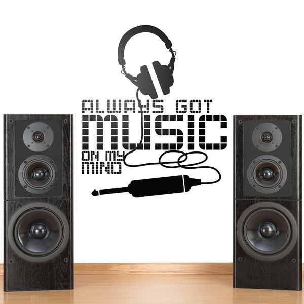 Stickers muraux: Always got music on my mind