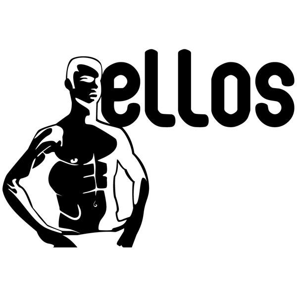Stickers muraux: WC Ellos
