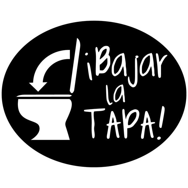 Stickers muraux: Bajar la Tapa