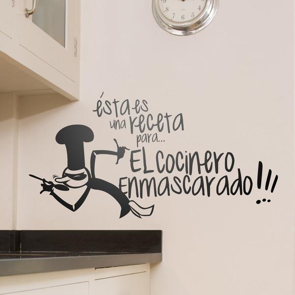 Stickers muraux: Receta Cocinero Enmascarado