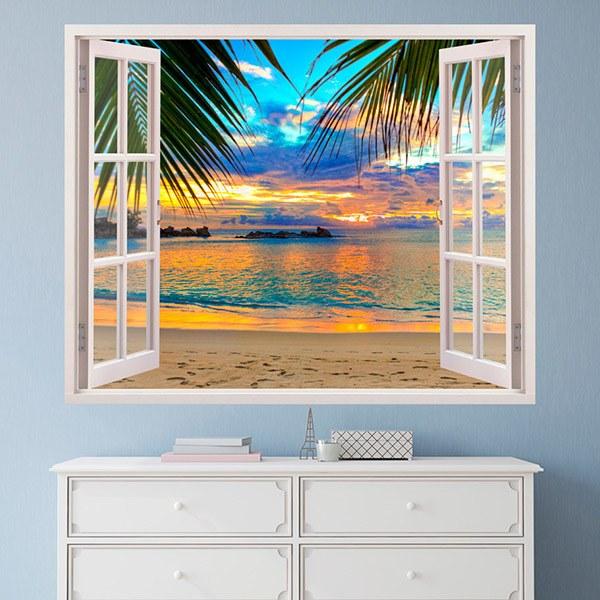 Stickers muraux: Coucher de soleil sur la plage