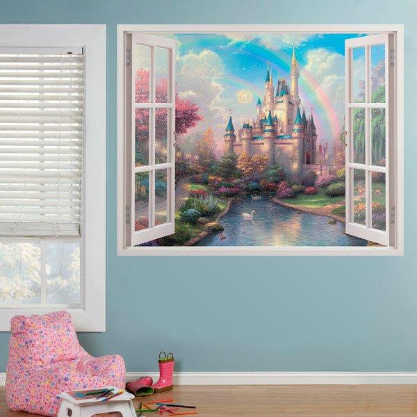 Stickers pour enfants: Château Disney et la Fée Clochette
