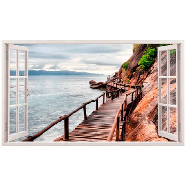 Stickers muraux: Panorama Pont sur la mer