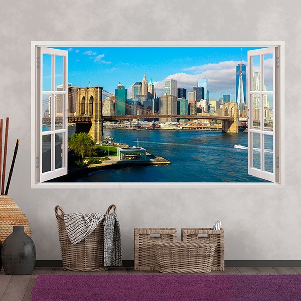 Stickers muraux: Panorama de Skyline New York