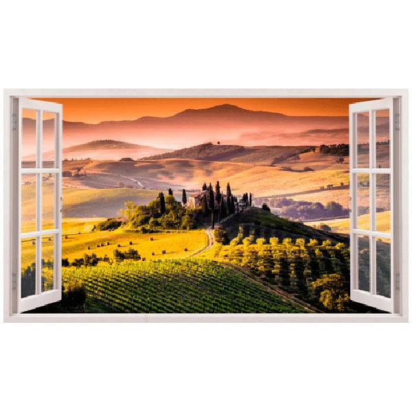 Stickers muraux: Panorama de Toscane paysage italien
