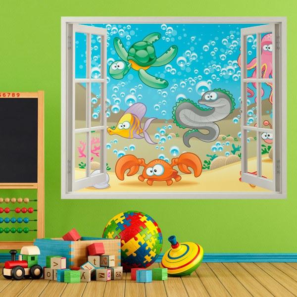 Stickers pour enfants: Fenêtre des fonds marins