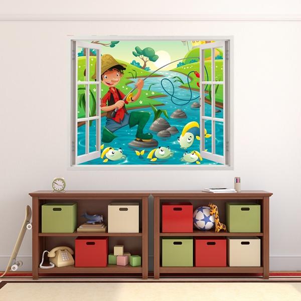 Stickers pour enfants: Pêcheur