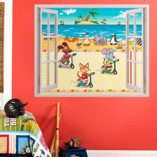 Stickers pour enfants: beach race