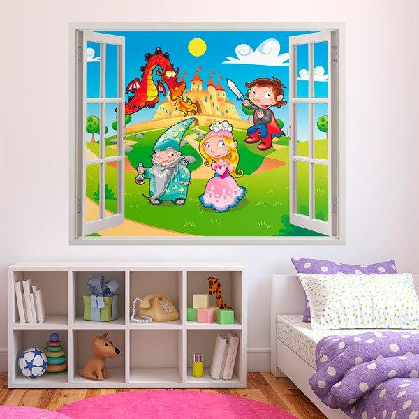 Stickers pour enfants: Le Dragon Castle
