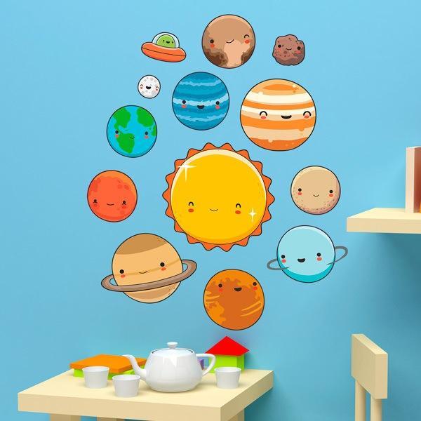 Stickers pour enfants: Kit espace Planètes