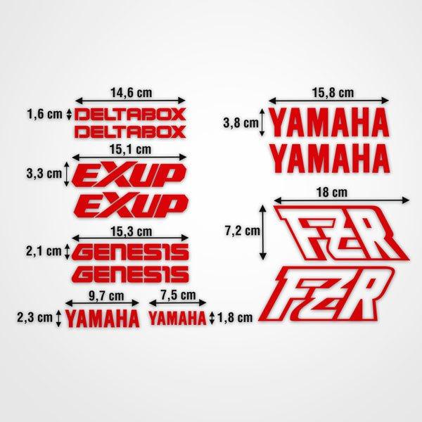 Autocollants: kit Yamaha FZR