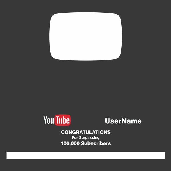 Autocollants: Vinyle Bouton Argent Plate Youtube