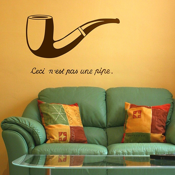 Stickers muraux: Pipe Magritte