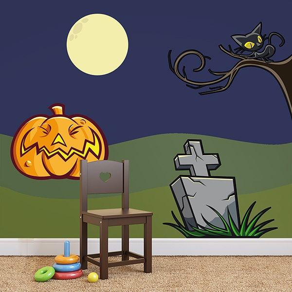 Stickers muraux: KIT halloween couleur