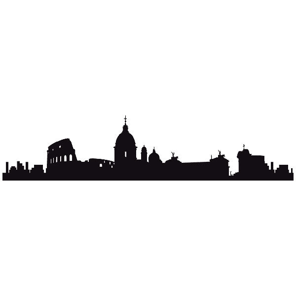 Stickers muraux: Roma Skyline