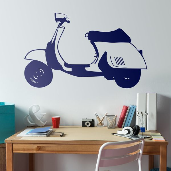 Stickers muraux: Scooter vespa
