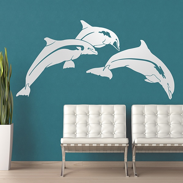Stickers muraux: Dauphins heureux