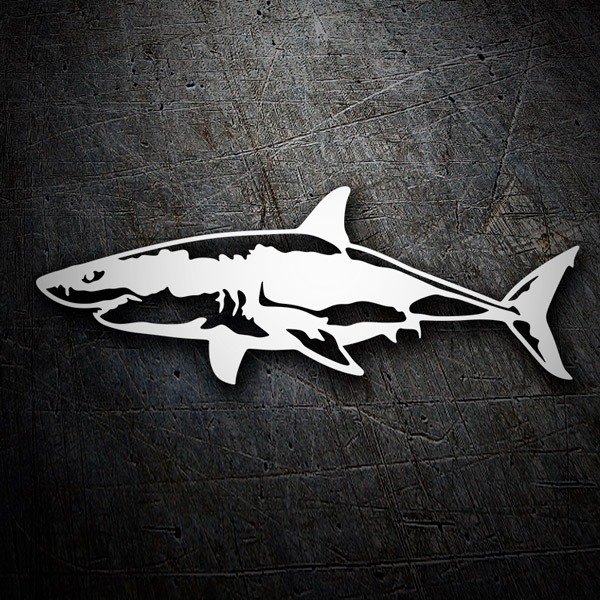 Stickers muraux: Requin nageant
