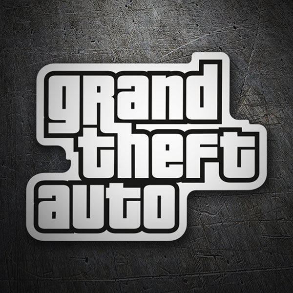 Autocollants: Grand Theft Auto Logo