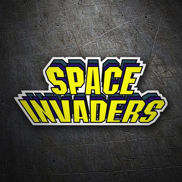 Autocollants: Space Invaders Relief